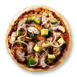Chicken Avocado Healthier Choice Pizzas