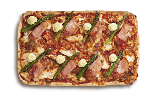 Chicken Cordon Bleu Upper Crust Pizzas