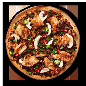 Kimchi BBQ Chicken Street Food Pizzas