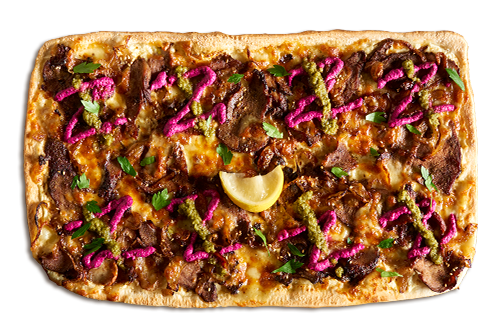 Za'atar Spiced Lamb w/ Zhug Upper Crust Pizzas