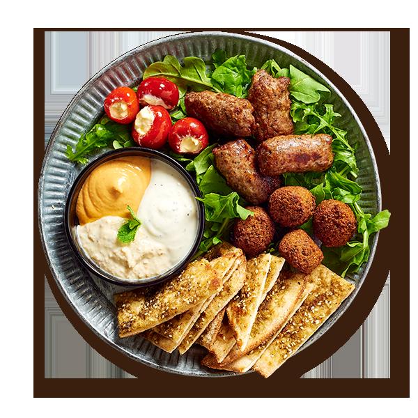Middle Eastern Mezze Platter Starters