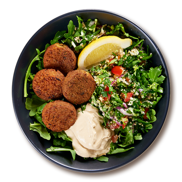 Middle Eastern Falafel Bowl Salads