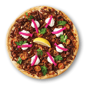 Middle Eastern Beef Meat Pizzas