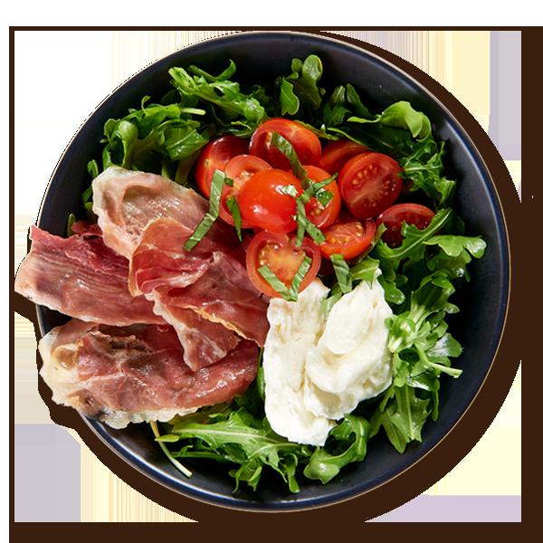 Prosciutto Caprese Bowl Salads