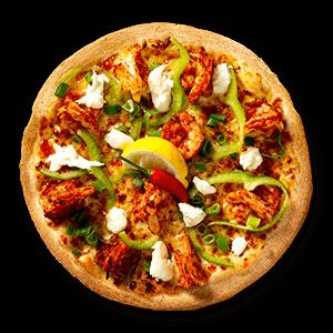 Szechuan Chilli Prawn Seafood Pizzas