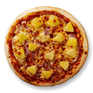 Kids Ham & Pineapple Pizza + Juice Crust Kids Menu